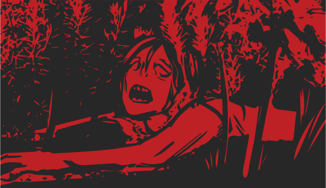 Season 8, Mission 6 banner: a zombie, lying on the ground in the brush